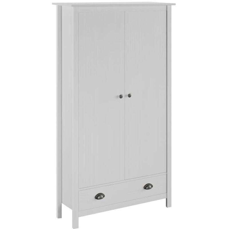 Kleiderschrank mit 2 Türen Hill Range Weiß 89x50x170 cm Kiefer - ZQYRLAR