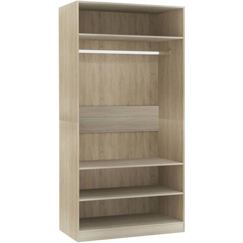 Kleiderschrank Spanplatte 100×50×200cm Sonoma-Eiche - VIDAXL
