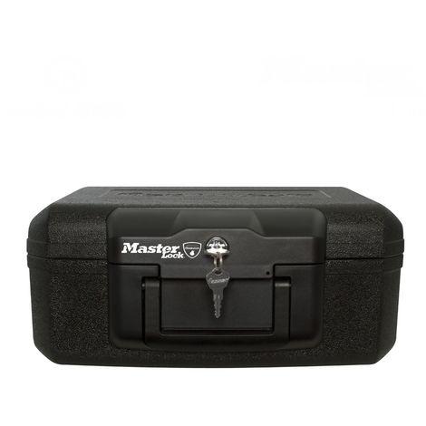 Kleine Sicherheitskassette 5 Liter feuerbeständig schwarz