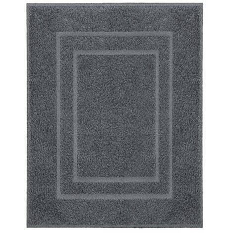 Kleine Wolke Alfombra de baño Plaza gris oscuro 60x80 cm