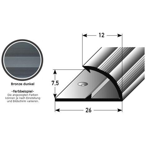 """Klemmprofil / Einschubprofil """"Limerick"""" für Laminat, 7,5 mm Einfasshöhe, Aluminium eloxiert, gebohrt"""