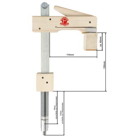 KLEMMSIA Adaptateur Pince de base 150/110 Diamètre de la broche 20 mm