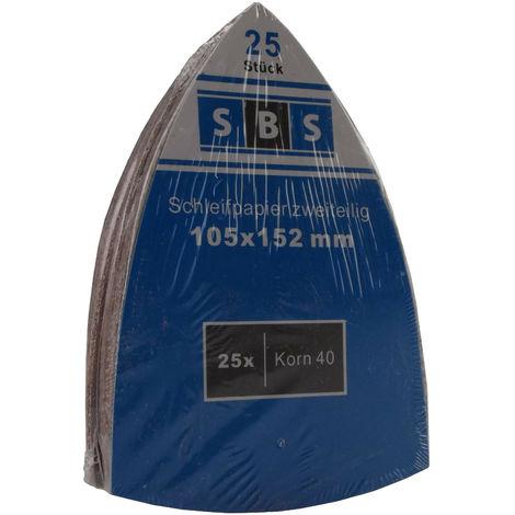 50 Blatt Klett Prio-Schleifpapier f/ür Multischleifer 105 x 152 mm Schleifbl/ätter//Schleifpapier//Schleifscheiben Korn 60