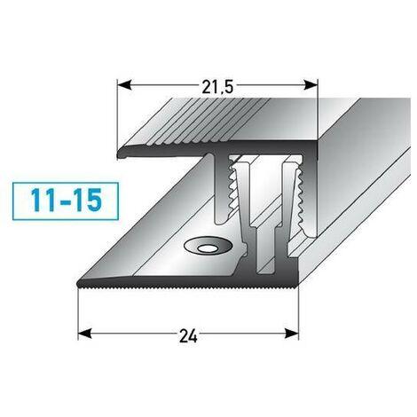 "Klick-Abschlussprofil / Abschlussleiste Laminat ""Alberni"" Höhe 11 - 15 mm, 21,5 mm breit, 2-teilig, Aluminium eloxiert"