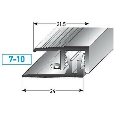 "Klick-Abschlussprofil / Abschlussleiste Laminat ""Markdale"", Höhe 7 - 10 mm, 21,5 mm breit, 2-teilig, Aluminium eloxiert"