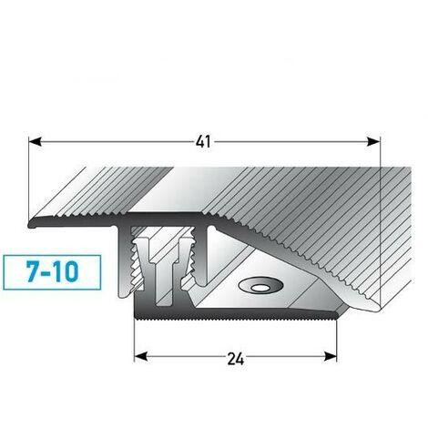 """Klick-Ausgleichsprofil / Anpassungsprofil """"Toronto"""" Höhe 7 - 10 mm, 41 mm breit, 2-teilig, Aluminium eloxiert"""