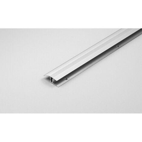 """Klick-Ausgleichsprofil / Anpassungsprofil """"Winnipeg"""" Höhe 11 - 15 mm, 41 mm breit, 2-teilig, Aluminium eloxiert"""
