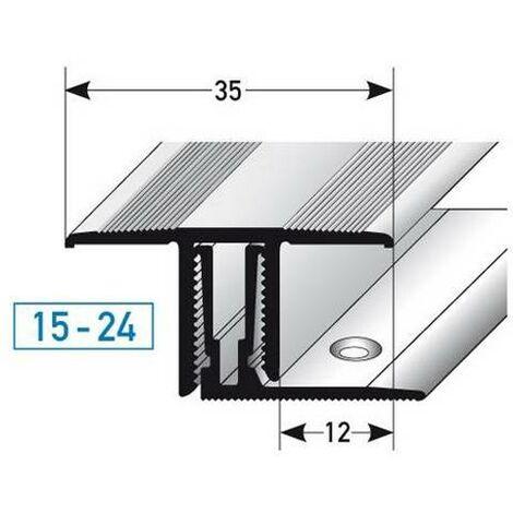"""Klick-Übergangsprofil / Übergangsschiene für Laminat / Parkett """"Southgate"""", Höhe 15 - 24 mm, 35 mm breit, 2-teilig, Aluminium eloxiert"""