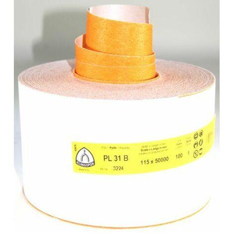 Klingspor PL31B-3224 E 447 143 Rouleau de papier de verre Grain 100 115mmx50m