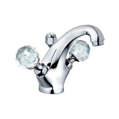 KLUDI ADLON Waschtischarmatur Ablaufgarnitur chrom/kristall, 5101005G5