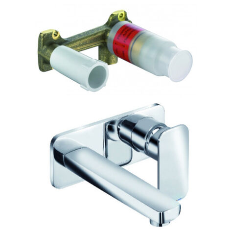 Kludi Concealed two hole wall mounted basin mixer + Installation SET DN 15 (492440575-set)
