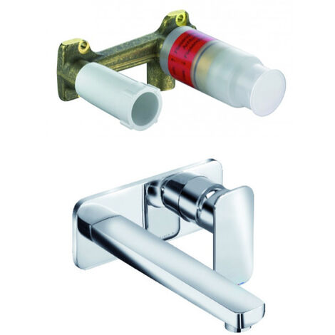 Kludi Concealed two hole wall mounted basin mixer + Installation SET DN 15 (492450575-set)