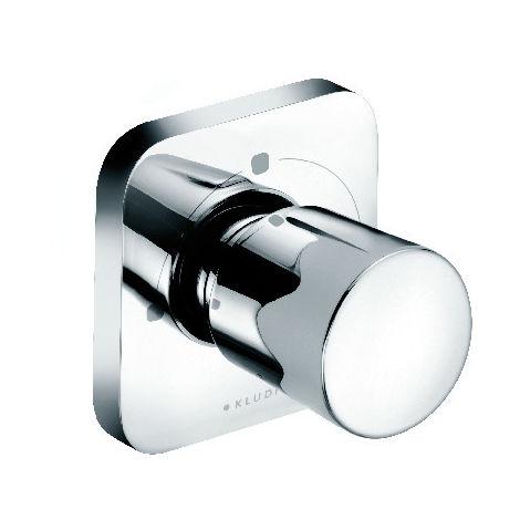 Kludi E2 - Robinet d'arrêt de douche / mural / en chrome / 1 trou (498460575)