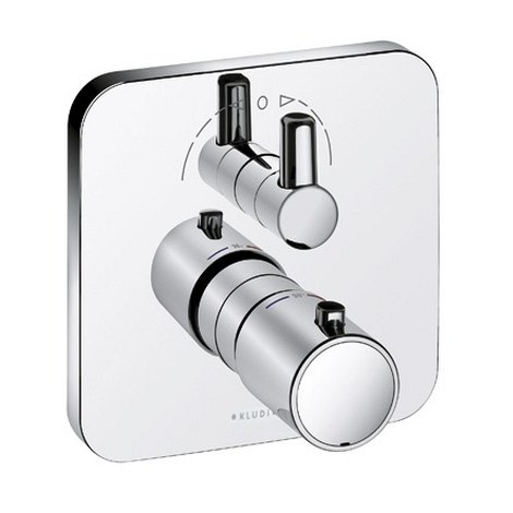 Kludi E2 Unterputz-Thermostatarmatur Feinbau-set mit Absperr- und Umstellventil, 498300575