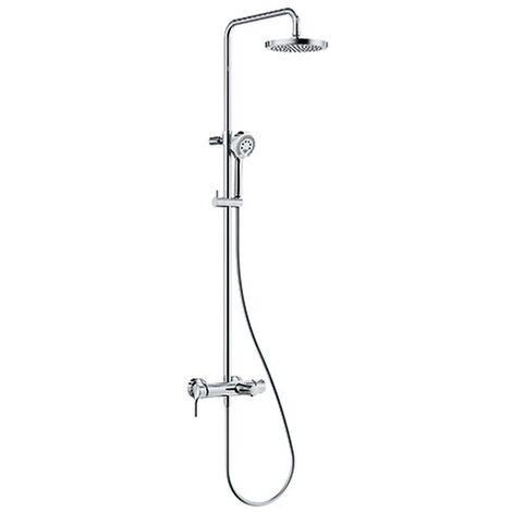 KLUDI LOGO Einhebelmischer Dual Shower System mit Wanneneinlauf chrom, 6808305-00