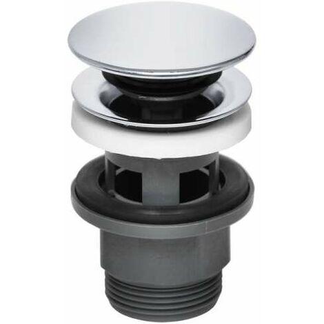 KLUDI Push-Open Ablaufventil für Waschtisch mit Überlauf chrom 1042405-00