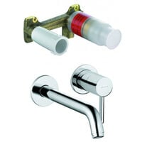 Kludi ZENTA -Concealed two hole wall mounted basin mixer + Installation SET DN 15 (382450576-set)