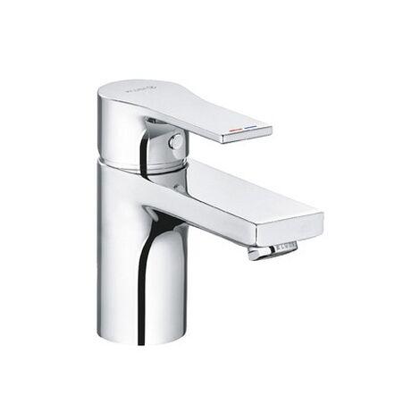 KLUDI ZENTA SL Waschtisch Einhebelmischer 75mm mit Push Open Ablaufventil chrom, 482660565