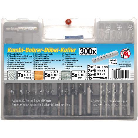 Km Kombi-Bohrer-Dübel-Satz | 300-tlg.