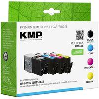KMP Encre remplace HP 903XL compatible pack bundle noir, cyan, magenta, jaune H176VX 1756,0005