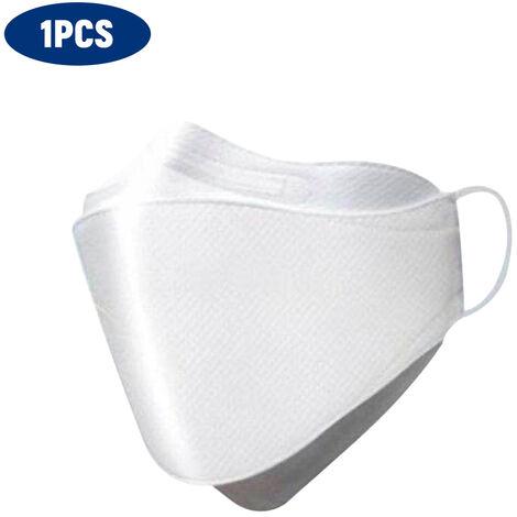 Kn95 Masque Quadruple Filtre Masque 95% Filtration Masque Nez Adaptable Bar 4-Couche De Protection Visage Doux Et Respirant Non-Tisse Masque Tissu, 1Pc
