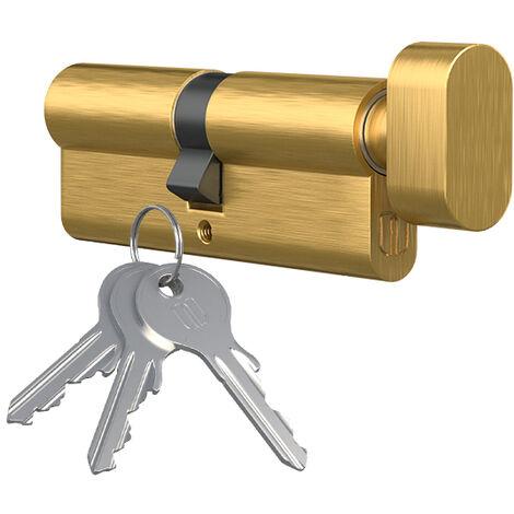 Knaufzylinder Knopfzylinder Ausführung Messing poliert Türschloss Schliesszylinder