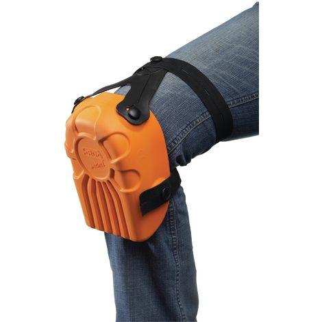 Knieschoner Kastenform orange DIN/EN14404 Ergo 4Knöpfe 1Paar/VE