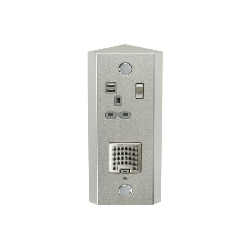 Image of Knightsbridge 13A 1G Vertical Switched Socket with Dual USB Charger (2.4A) and 3W RMS Bluetooth Speaker