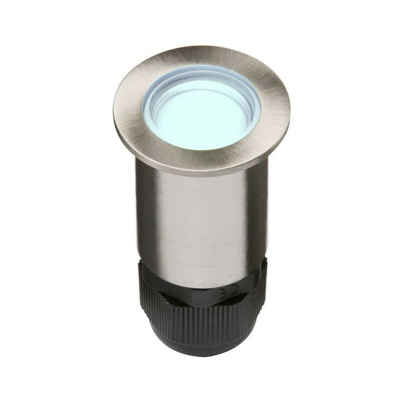 Image of Knightsbridge 24V Small Stainless Steel Ground Fitting 4 x Blue LED, IP67