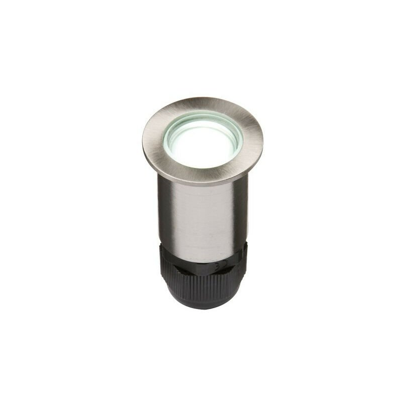 Image of Knightsbridge 24V Small Stainless Steel Ground Fitting 4 x White LED, IP67