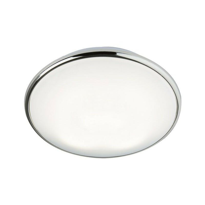 Image of Knightsbridge 2D Bulkhead with Opal Diffuser and Chrome Base, 38W