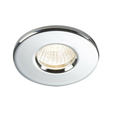 Knightsbridge Bathroom Recessed Downlight - Chrome, IP65 GU10