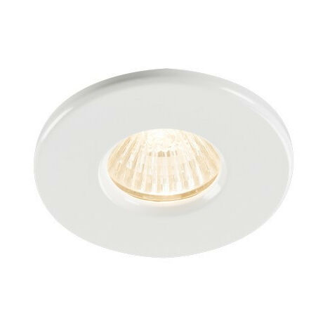 Knightsbridge Bathroom Recessed Downlight - White, IP65 GU10