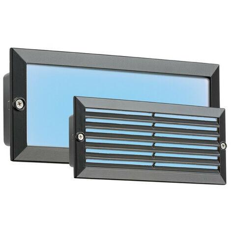 Knightsbridge Blue LED Recessed Brick Light - Black Fascia, 230V IP54 5W