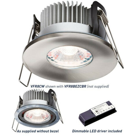 "main image of ""Knightsbridge Fire-Rated Downlight 4000K, PROKNIGHT LED IP65 8W"""
