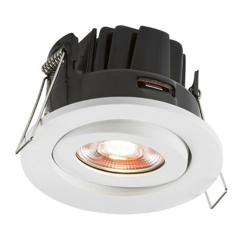 Knightsbridge Fire-Rated Valknight Tilt LED Downlight 4000K, 230V 8W