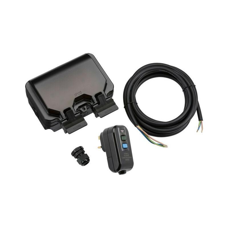 IP66 2G RCD Outdoor Socket Kit - Knightsbridge