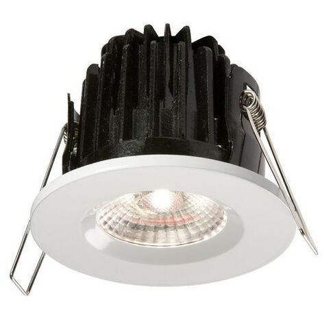 Knightsbridge LED 4000K Cool White Bathroom Downlight with White Bezel, IP65 7W