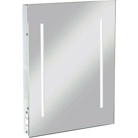 Knightsbridge LED Rectangular Bathroom Illuminated Mirror with Dual Voltage Shaver Socket, IP44