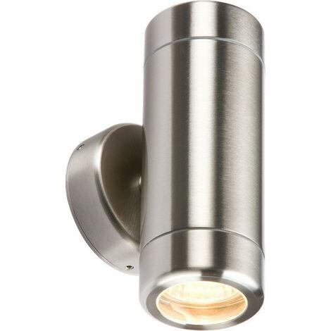 Knightsbridge Stainless Steel Up & Down Light GU10 Fitting, 230V IP65