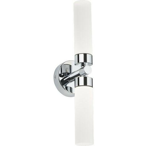 Knightsbridge Twin LED Chrome Bathroom Wall Light, 230V IP44 2x3W