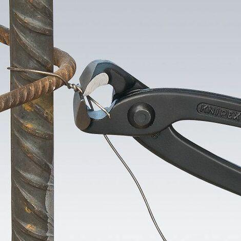 KNIPEX 99 01 220 EAN Tenaille russe (Tenailles russes ou pinces à tresser) noire atramentisée gainées en plastique 220 mm