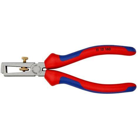 KNIPEX Abisolierzange Abisolierzange Länge 160 mm poliert Mehrkomponenten-Hüllen ohne Öffnungsfeder