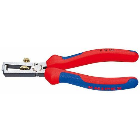 Knipex Abisolierzange schwarz atramentiert poliert mit Mehrkomponenten-Hüllen 160 mm - 11 02 160 SB