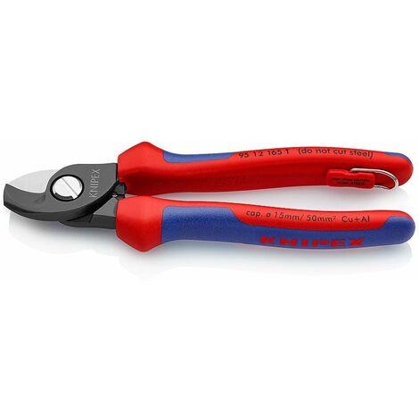 KNIPEX 13 62 180 StriX Pince /à d/énuder /à coupe-c/âble noire atramentis/ée avec gaines bi-mati/ère 180 mm