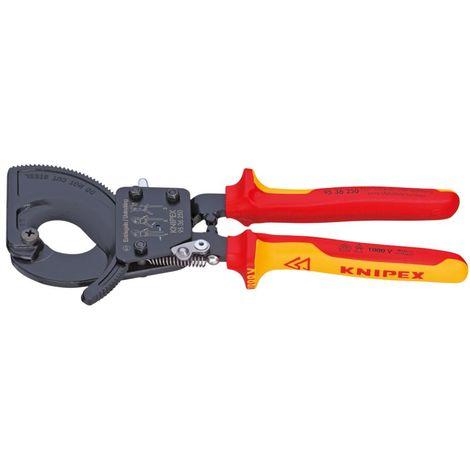 Knipex Coupe-câbles principe du cliquet 280 mm - 95 36 280