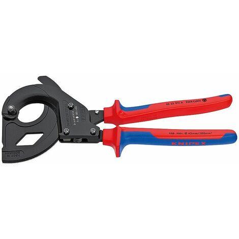 Knipex Coupe-câbles (principe du cliquet) avec gaines bi-matière 315 mm - 95 32 315 A