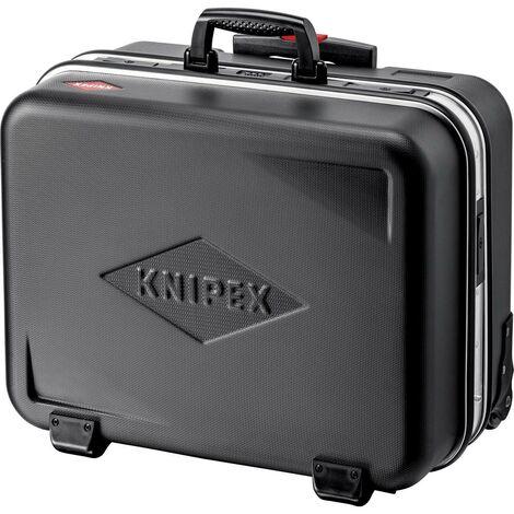 Knipex Mallette à outils, BIG Twin-Move, avec roulettes intégrées et chariot porte-valise télescopique - 002141LE