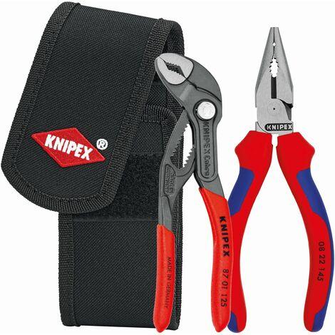Knipex Mini-jeu de pinces en pochette de ceinture à outils - 00 20 72 V06
