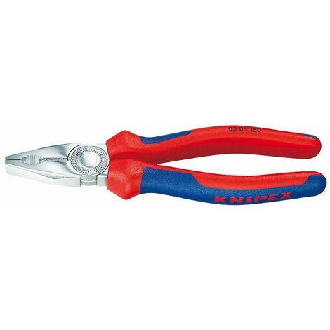 Knipex Pince universelle chromée avec gaines bi-matière 200 mm - 03 05 200 SB